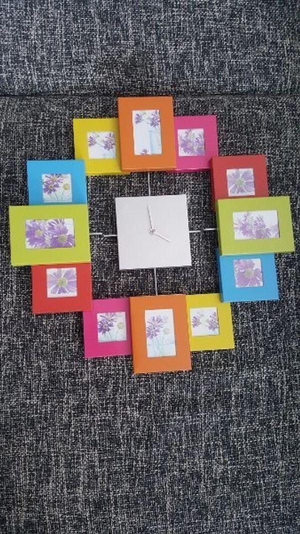 Wanduhr bunt mit Bilderrahmen in Remchingen - Uhren kaufen und ...