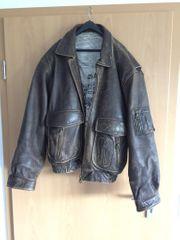 Herren Vintage Lederjacke
