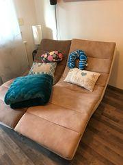 Sofa-Liegen creme braun