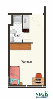 Möbliertes 1 Zimmer Appartement im