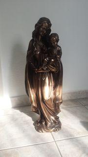 Bronze Skulptur Madonna mit Kind