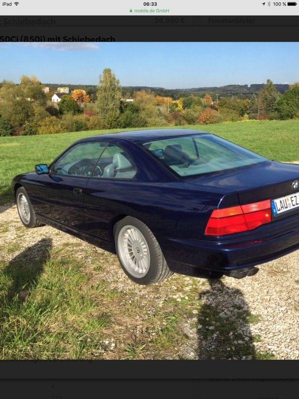 BMWI - Altdorf - BMW, 850, Coupe, Benzin, 220 kW, 175000 km, EZ 07/1991, Automatik, Blau, Nichtraucherfahrzeug. Verkaufe hier meinen 850i in sehr gutem Zustand, laut vorhandenem Wertgutachten Zustand 2. Es besteht kein Reparaturstau, alles ist in den letzten 6 J - Altdorf