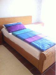 Doppelbett Korbgeflecht B: