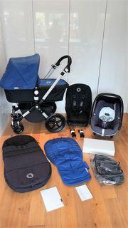 Blue Bugaboo Cameleon 3 stroller