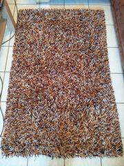 Teppich, braun, Fransenteppich