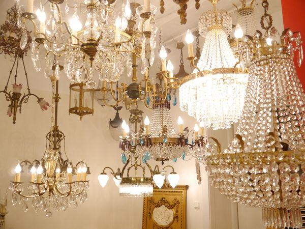 Kronleuchter Deckenlampe Lampe Kristall Strass Hängelampe Designer Lüster Led ~ Kronleuchter antik alte lampen galerie kristall messing korblüster