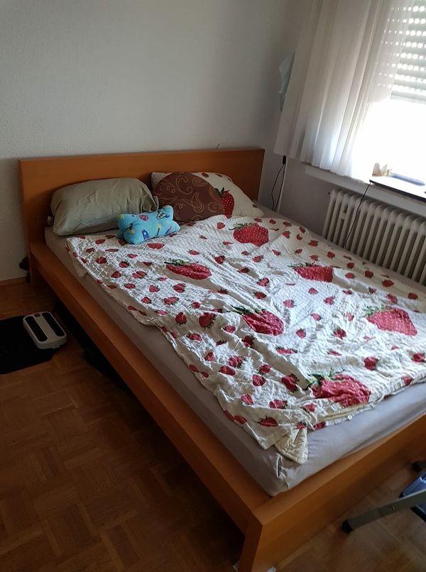 Malm Bett Birke 160x200 2 Lattenroste Kopf U Fuss Verstellbar In