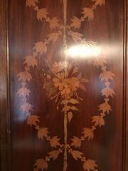 antik Schrank intarsien echtholz