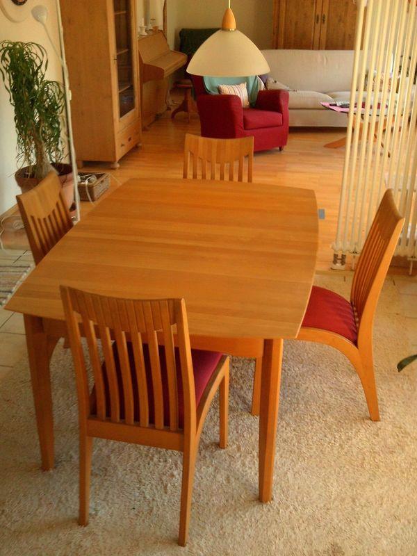 Skandinavische Esszimmer Garnitur Tisch 4 Stühle