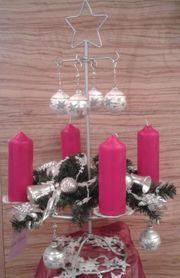 Adventskranz Weihnachtskranz inkl Weihnachtsdeko Kerzen