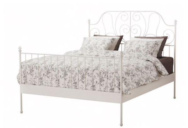 Erstaunlich IKEA LEIRVIK Bettgestell Weiß