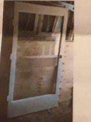 Balkontür mit Glaseinsatz