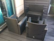 Sitzgarnitur Rattan Garten Terrasse
