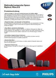 Philips 5 1 PC Lautsprechersystem
